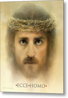 Ecce Homo With Quote Metal Print