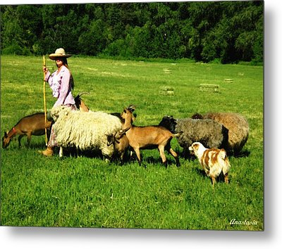 Metal Print featuring the painting Ecclesia-the Joyful Flock by Anastasia Savage Ealy