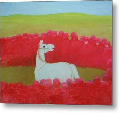 Echoing Steppe No.3 Metal Print