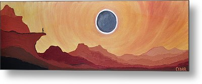Eclipse From The Precipice Metal Print by Cedar Lee