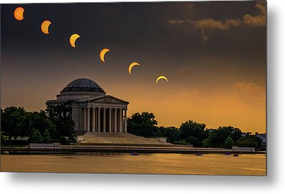 Eclipse Over Jefferson Metal Print by Kristen Meister