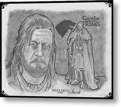 Eddard Stark Metal Print by Chris  DelVecchio