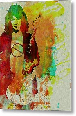 Eddie Van Halen Metal Print by Naxart Studio
