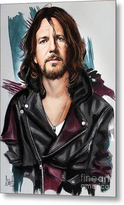 Eddie Vedder Metal Print by Melanie D