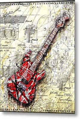 Eddie's Guitar 3 Metal Print by Gary Bodnar