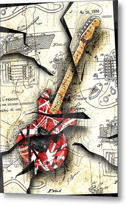 Eddie's Guitar Metal Print by Gary Bodnar