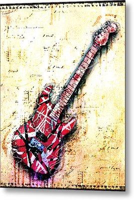Eddie's Guitar Variation 07 Metal Print by Gary Bodnar
