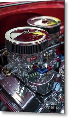 Edelbrock And Chevy Metal Print by Mike Reid
