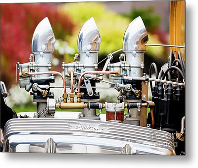 Metal Print featuring the photograph Edelbrock Side View by Chris Dutton