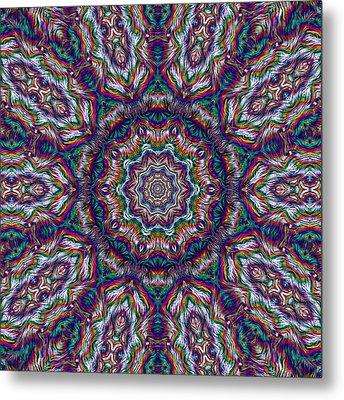 Eden Of Paradise Rainbow Flower Metal Print