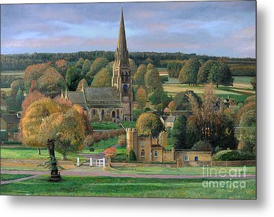 Edensor - Chatsworth Park - Derbyshire Metal Print