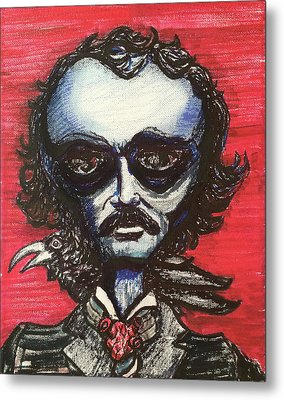 Edgar Alien Poe Metal Print by Similar Alien