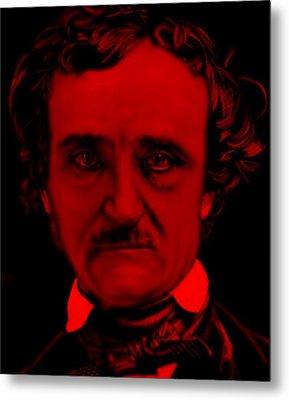Edgar Allan Poe Metal Print by Brian Broadway