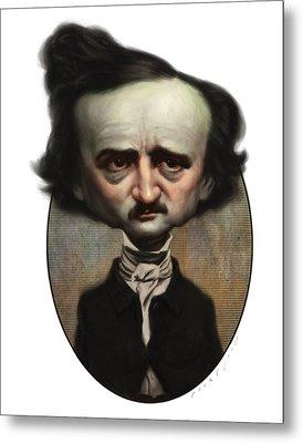 Edgar Allan Poe Metal Print by Court Jones