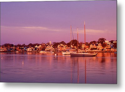 Edgartown Harbor Metal Print