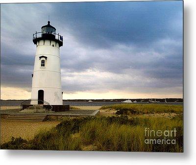 Edgartown Lighthouse Cape Cod Metal Print by Matt Suess