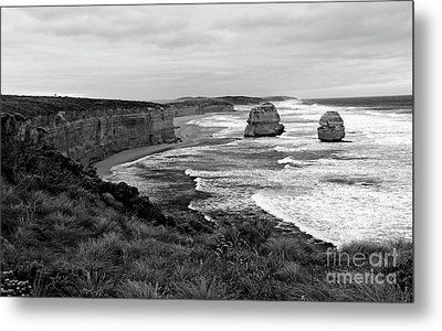 Edge Of A Continent Bw Metal Print