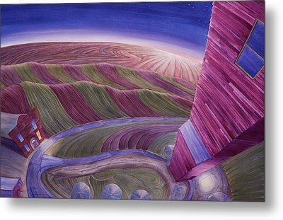 Metal Print featuring the painting Edge Of Town Iv by Scott Kirby