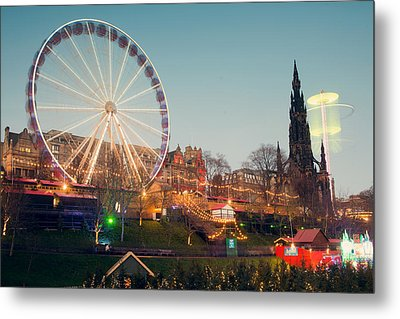 Edinburgh And The Big Wheel Metal Print