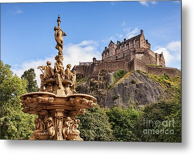 Edinburgh Castle Metal Print by Colin and Linda McKie