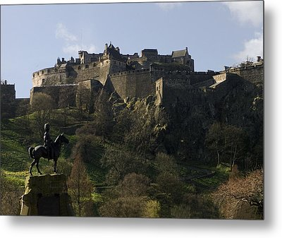 Edinburgh Castle Metal Print by Mike Lester