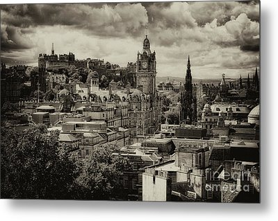 Metal Print featuring the photograph Edinburgh In Scotland by Jeremy Lavender Photography