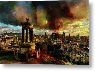 Edinburgh Scotland 01 Metal Print by Gull G