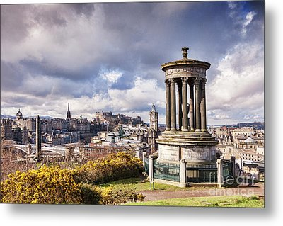 Metal Print featuring the photograph Edinburgh Skyline by Colin and Linda McKie