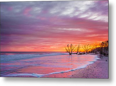 Edisto Beach Sunset Metal Print