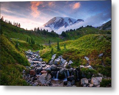 Metal Print featuring the photograph Edith Creek Sunset by Dan Mihai