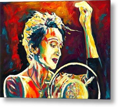 Edith Piaf- La Mome Metal Print by Vel Verrept