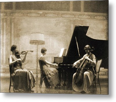 Edith Rubel Trio Performing, Left Metal Print by Everett