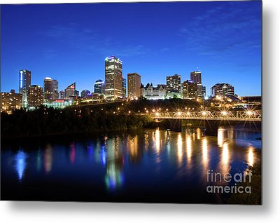 Edmonton Skyline Metal Print by Terry Elniski
