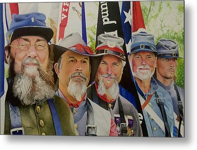 Edmund Ruffin Fire Eaters Color Guard 2016 Metal Print by David Hoque