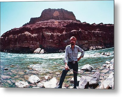 Edward Abbey, Novelist, 1969 Metal Print by The Harrington Collection