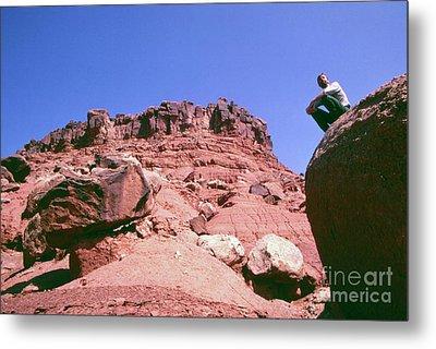Edward Abbey On Rocks In The Desert, 1969 Metal Print