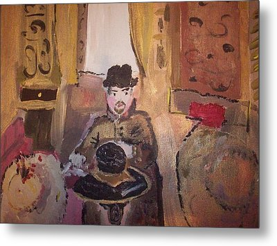 Metal Print featuring the painting Edwardian Hats by Judith Desrosiers