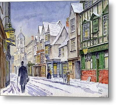 Edwardian St. Aldates. Oxford Uk Metal Print by Mike Lester
