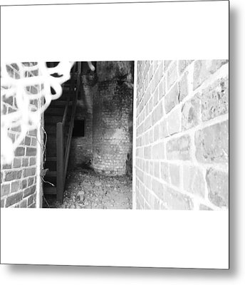 Eerie Look Inside The Martello Tower At Metal Print by Natalie Anne