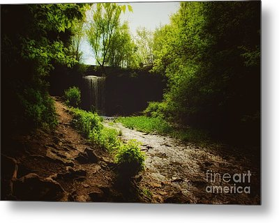 Metal Print featuring the photograph Eerie Path At Wequiock Falls by Mark David Zahn