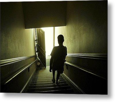 Eerie Stairwell Metal Print by Scott Hovind