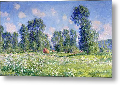 Effect Of Spring At Giverny Metal Print by Claude Monet