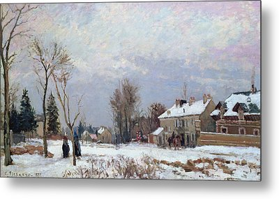 Effects Of Snow Metal Print by Camille Pissarro