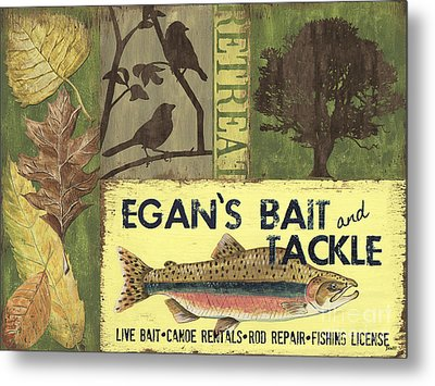Egan's Bait And Tackle Lodge Metal Print