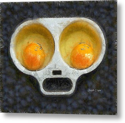 Egg Face - Da Metal Print