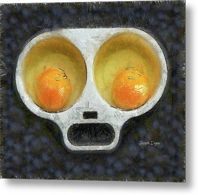 Egg Face Metal Print by Leonardo Digenio