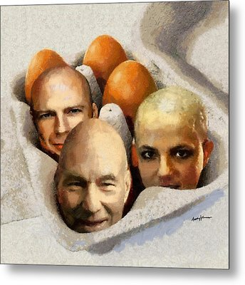 Eggheads Metal Print by Anthony Caruso