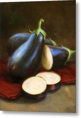 Eggplants Metal Print by Robert Papp