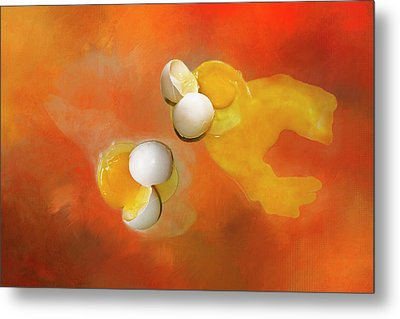 Metal Print featuring the photograph Eggs by Carolyn Marshall