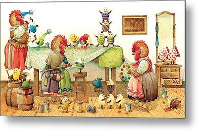 Eggs Dyeing Metal Print by Kestutis Kasparavicius